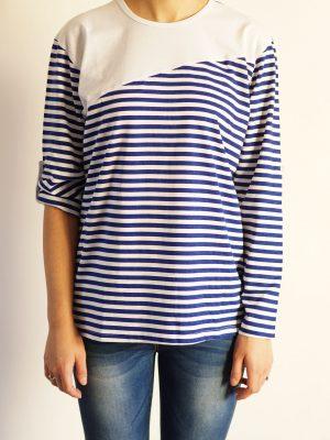 дамска-блуза-със-захващане-на-ръкава