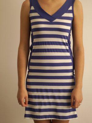 дамска-морска-рокля-в-тъмносин-цвят