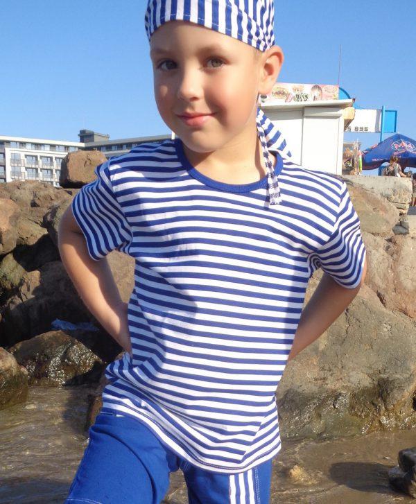 детска-моряшка-тениска-с-къс-ръкав